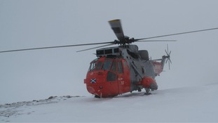 The HMS Gannet SAR 177 airlifted the sick toddler to hospital