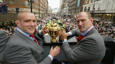 Phil Vickery with World Cup trophy