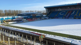 Carlisle UNITED: CUFC asking fans to help clean their snowy pitch