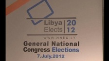 Signage for Libya's General National Congress elections