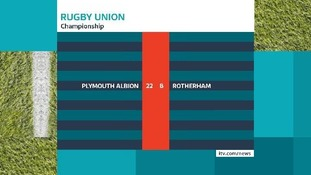 Rugby Union results