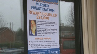 Posters being put up on the estate where Andrew Heath lived