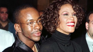 Bobby Brown and his late wife Whitney Houston in 1999.