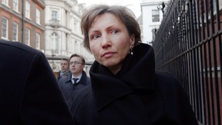 Marina Litvinenko outside the Royal Courts of Justice last week.