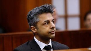 Shrien Dewani during his trial in South Africa.