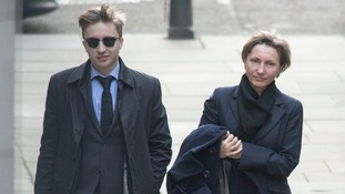 Marina Litvinenko arrives at the Royal Courts of Justice, London.