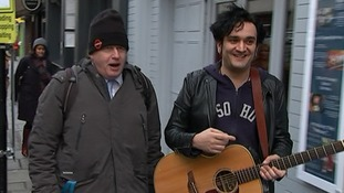 Boris Johnson broke into song today for the Save Soho campaign