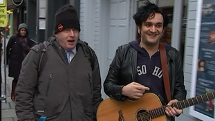Boris Johnson sang with Save Soho founder Tim Arnold