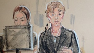 Court sketch of Marina Litvinenko.