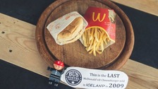 MacDonald's last cheeseburger in Iceland.