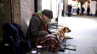 Homeless people are in danger as the temperature drops
