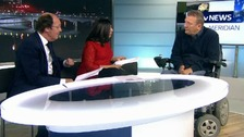 ITV Meridian presenters interview Geoff Holt