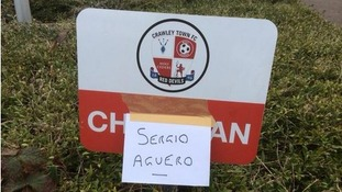 Crawley Town woos Sergio Agüero with parking spot