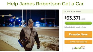 The fundraising page for James Robertson