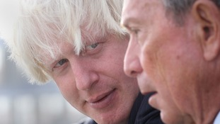 Boris Johnson (left) and Michael Bloomberg, the Mayor of New York