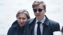 Marina Litvinenko and arrives with son Anatoly at the Royal Courts of Justice.