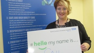 Gail Naylor, director of nursing & midwifery, signing up to the campaign