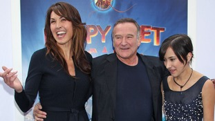 Robin Williams, his wife Susan Schneider and daughter Zelda Williams at a film premiere in 2011.