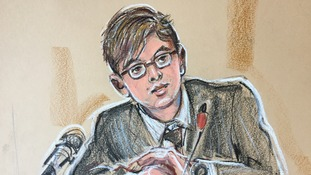 A court sketch of Anatoly Litvinenko, the son of Alexander Litvinenko.