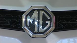MG Motors badge