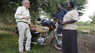 Alastair Stewart meets Sarah Mutanda in Uganda