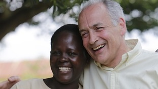 Sarah Mutanda with Alastair Stewart