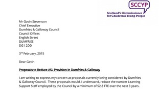 The letter asks the council to delay its decision on the proposals.