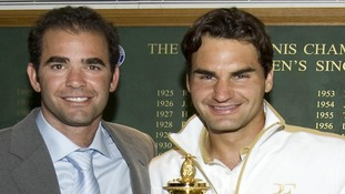 Federer is looking to tie Pete Sampras' record of seven Wimbledon titles.