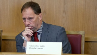 Paul Lakin pictured at a meeting of the council's cabinet in September.