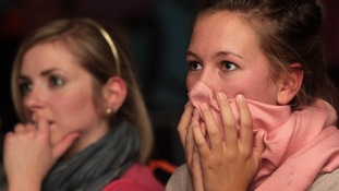 Murray fans watch on in despair as he loses his first grand slam final to Roger Federer.
