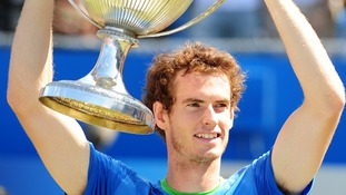 Murray wins the AEGON Championships at Queen's Club for the second time.