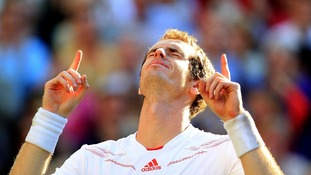 Ecstasy for Murray as he reaches first Wimbledon final.