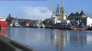 The port at Great Yarmouth