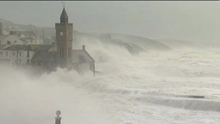 Porthleven was badly hit by the storms