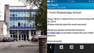 Wadebridge School in Cornwall sent the text message to hundreds of parents