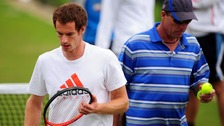 Andy Murray alongside coach Ivan Lendl