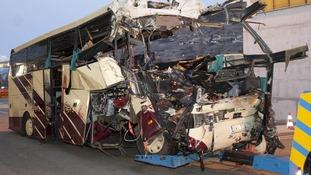 Bus crash in Switzerland