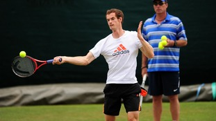 Andy Murray under the watchful eye of Ivan Lendl