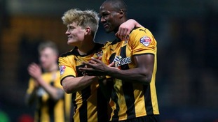McGeehan (left) is currently on loan at Cambridge United.