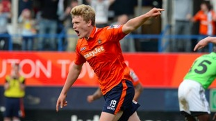 McGeehan in action for Luton Town.