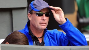 Lendl watches on was Murray plays Tsonga in the semi finals