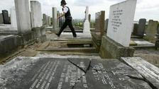 Desecrated graveyard