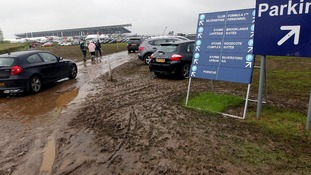 Spectators arrive at Silverstone earlier
