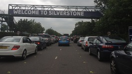 Fans queue for Silverstone