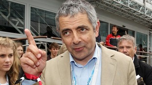 Rowan Atkinson as Silverstone for the British Grand Prix