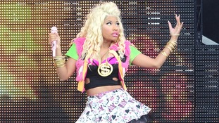 Nicki Minaj performs at the Barclaycard Wireless Festival 2012 at Hyde Park in London.