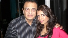 Vinod Hindocha and his daughter Anni