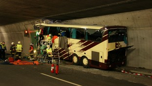 Bus crash in Switzerland