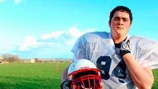 Jack Curry, who is off to play for American Football team Cologne Falcons