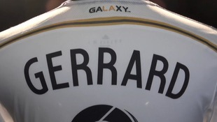 An LA Galaxy shirt with Gerrard's name on the back.